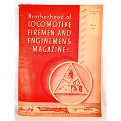 1937 LOCOMOTIVE FIREMEN AND ENGINEMENS MAGAZINE