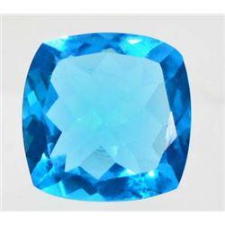 14.2 CT SWISS BLUE QUARTZ - CUSHION CUT