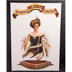 SCHLITZ BREWING COMPANY ADVERTISING POSTER PRINT