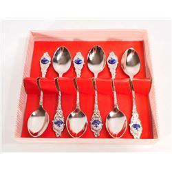 SET OF 6 VINTAGE TEA SPOONS FROM HOLLAND