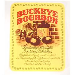 VINTAGE BUCKEYE BOURBON KENTUCKY STRAIGHT BOURBON WHISKEY LABEL