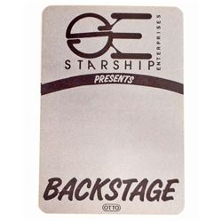 VINTAGE STARSHIP BACKSTAGE PASS