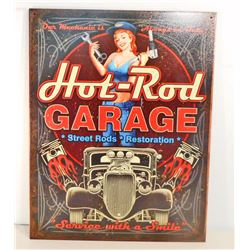 HOT ROD GARAGE SEXY PIN UP GIRL METAL SIGN