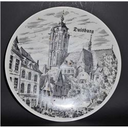 VINTAGE GERMAN COLLECTORS PLATE OF DUISBURG