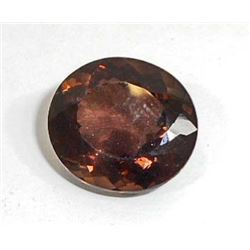 21.5 CT BROWN QUARTZ ROUND CUT