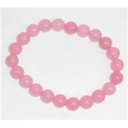 LOT 87.5 CT ROSE QUARTZ BEADED BRACELET