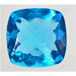 16.4 CT SWISS BLUE QUARTZ - CUSHION CUT