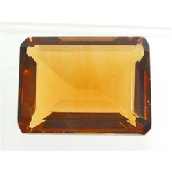 21 CT WHISKEY QUARTZ - OCTAGON CUT