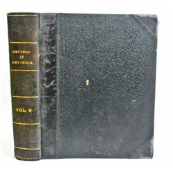 "ANTIQUE 1894 ""REVIEW OF REVIEWS"" HARDCOVER BOOK"