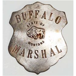 OLD WEST STYLE BUFFALO MARSHAL BADGE