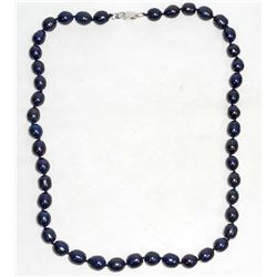 PURPLE PEARL NECKLACE WITH SILVER CLASP