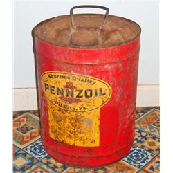 ANTIQUE PENNZOIL METAL GAS CAN