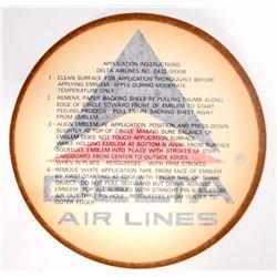 VINTAGE DELTA AIR LINES EMBLEM TRANSFER