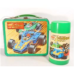 1970 JOHNNY LIGHTNING METAL LUNCH BOX W/ THERMOS