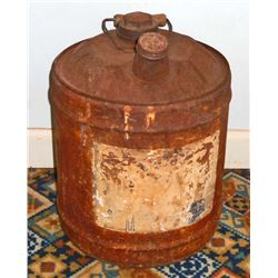 ANTIQUE METAL GAS CAN