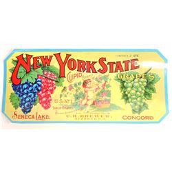VINTAGE NEW YORK STATE CUPID BRAND FRUIT LABEL