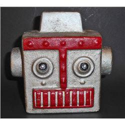CAST IRON ROBOT HEAD STILL BANK