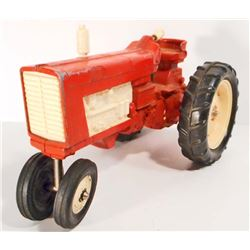 VINTAGE RED METAL TOY TRACTOR