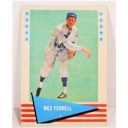 1961 WES FERRELL NO. 26 FLEER BASEBALL CARD