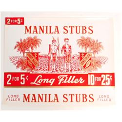 VINTAGE MANILA STUBS EMBOSSED CIGAR BOX LABEL