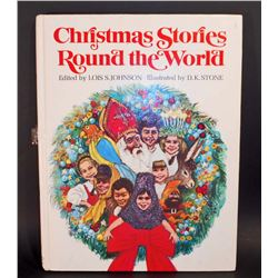 "VINTAGE 1970 ""CHRISTMAS STORIES ROUND THE WORLD"" HARDCOVER BOOK"