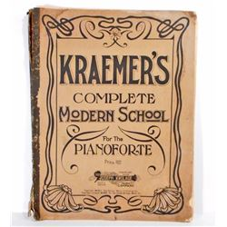 ANTIQUE 1911 KRAEMERS COMPLETE MODERN SCHOOL PIANO BOOK