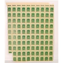 SHEET OF 98 VINTAGE GERMAN DEUTCHES REICH STAMPS