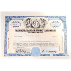 VINTAGE 1968 GREAT ATLANTIC & PACIFIC TEA CO. STOCK CERTIFICATE