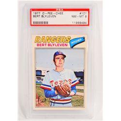 1977 O-PEE-CHEE BERT BLYLEVEN #101 BASEBALL CARD - PSA NM-MT 8
