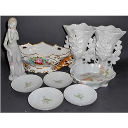 LOT OF VINTAGE PORCELAIN ITEMS - INCL. BAVARIAN AND HAVILAND