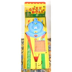"VINTAGE TIN LITHO SKEE BALL GAME - 29"" LONG"