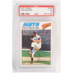 1977 TOPPS TOM SEAVER #150 BASEBALL CARD - PSA VG 3