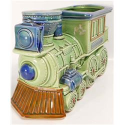 VINTAGE RELPO POTTERY TRAIN PLANTER