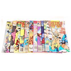 LOT OF 11 VINTAGE COMIC BOOKS - INCL. DR. STRANGE, JUSTICE LEAGUE
