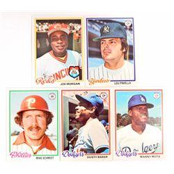 LOT OF 5 1978 TOPPS BASEBALL CARDS - STARS AND SEMI STARS