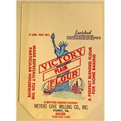VINTAGE VICTORY FLOUR ADVERTISING BAG
