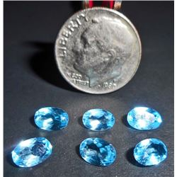 LOT OF SWISS BLUE TOPAZ