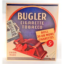 "BUGLER CIGARETTE TOBACCO ADVERTISING SIGN - 15""X17"""