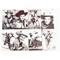 LOT OF 8 VINTAGE ROY ROGERS WESTERN COWBOY MUTOSCOPE ARCADE CARDS