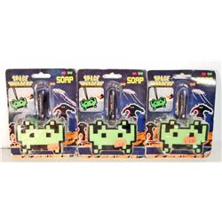 LOT OF 3 NEW SPACE INVADERS FIGURAL SOAP ON A ROPES