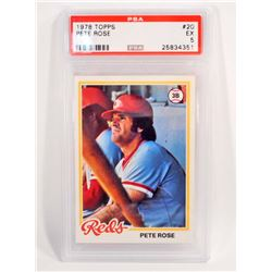 1978 TOPPS PETE ROSE #20 BASEBALL CARD - PSA EX 5