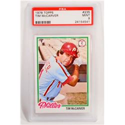 1978 TOPPS TIM MCCARVER #235 BASEBALL CARD - PSA MINT 9