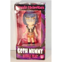 NEW GOTH MUMMY BOBBLE HEAD DOLL
