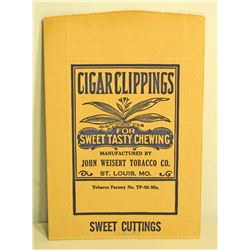 VINTAGE JOHN WEISERT CIGAR CLIPPINGS TOBACCO BAG