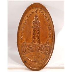 ANTIQUE 1901 PAN AMERICAN EXPOSITION FLAT SOUVENIR PENNY