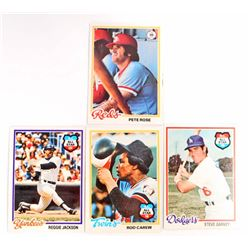 LOT OF 4 1978 TOPPS BASEBALL CARDS - SUPERSTARS