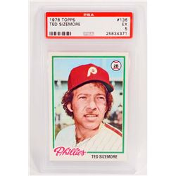 1978 TOPPS TED SIZEMORE #136 BASEBALL CARD - PSA EX 5
