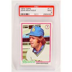 1978 TOPPS JOHN MONTAGUE #117 BASEBALL CARD - PSA MINT 9
