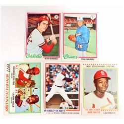 LOT OF 5 1978 TOPPS BASEBALL CARDS - STARS AND SEMI STARS