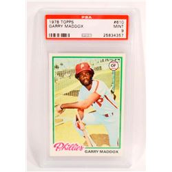 1978 TOPPS GARRY MADDOX #610 BASEBALL CARD - PSA MINT 9